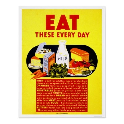 Eat These Every Day 1942 WPA Print by lc_wpa: Vintage Posters, Picture-Black Posters, Posters Prints, Posters Promotion, Wpa Posters, Healthy Eating, 1942 Wpa, Food Posters, Healthy Food
