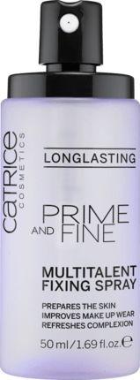 Das Make-up perfektionierende Multitalent für ein langanhaltendes, makelloses Finish: Das transparente Catrice Prime And Fine Multitalent Fixing Spray ist...