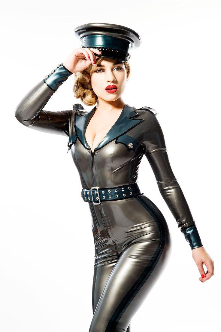 viktoria military uniform catsuit from house of harlot