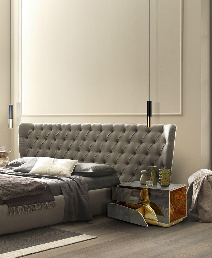 10 Luxus-Möbel zu einem modernen Frühling Schlafzimmer Design | LAPIAZ Spiegel Nachttisch von Boca do Lobo. Es hat golden Details. IKE poliert Brass und Aluminum Anhänger von Delightfull. Luxus-Möbel für die perfekteste modern Schlafzimmer Einrichtung Design. | http://wohn-designtrend.de/luxus-moebel-einem-modernen-fruehling-schlafzimmer-design/