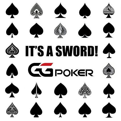 'Spade' comes from the Italian word for 'sword' dating back to the 1500s and is unrelated to a modern spade or shovel - the symbol depicts a stylized sword. #spades #poker #pokerlife #waybackwednesday #ggpoker #itsnotashovel