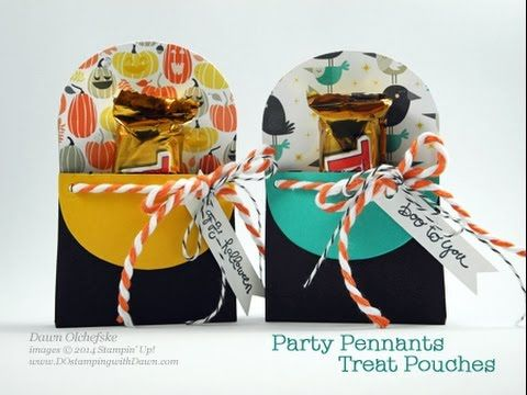 Party Pennants Treat Pouch Video is Here! - DOstamping with Dawn, Stampin' Up! Demonstrator
