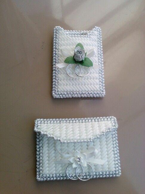 Plastic Canvas Wedding Cake Card Box