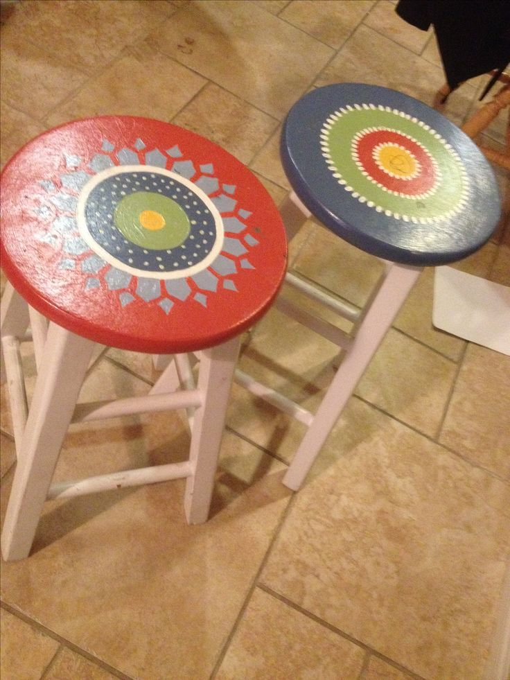 1000 Ideas About Painted Stools On Pinterest Painted