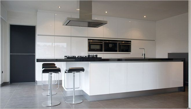 Zwarte Keuken Met Wit Blad : keukens 8 witte keuken zwart werkblad jpg more huis keuken keuken