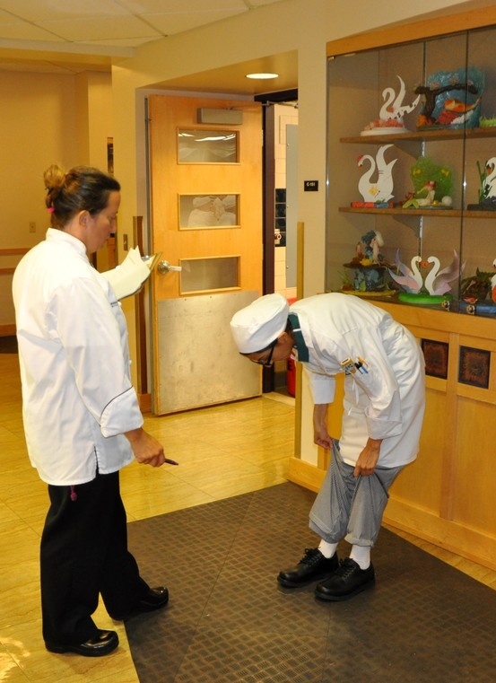 Culinary Standards - Checking for white socks - Johnson & Wales University College of Culinary Arts