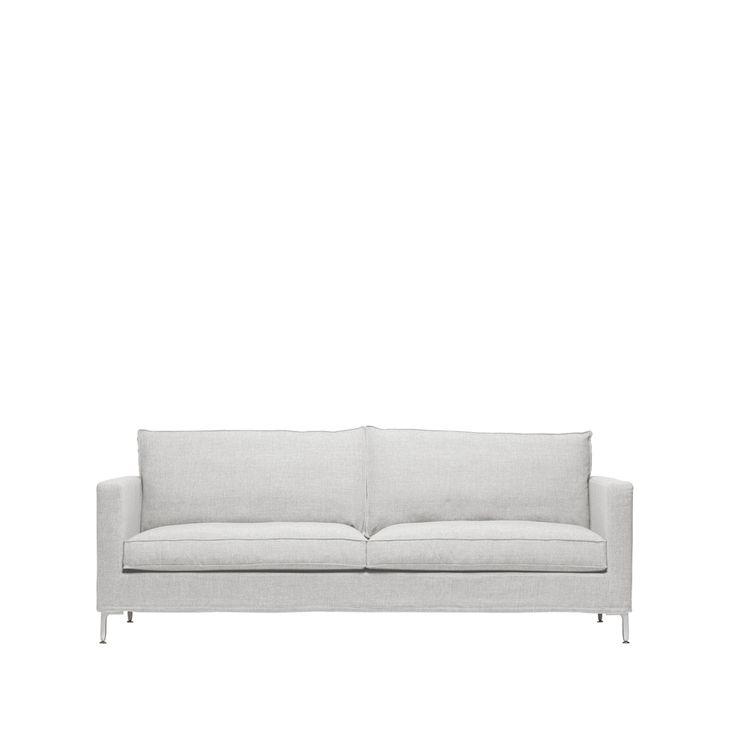 Alex high soffa - Alex high soffa - 2,5-sits, ljusgrå