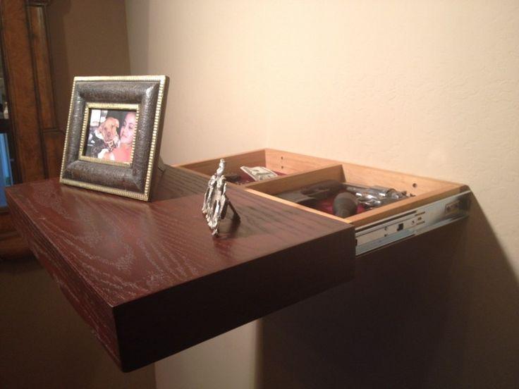 Hidden Compartment in Sliding Shelf