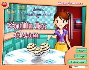 Cocina un helado de vainilla