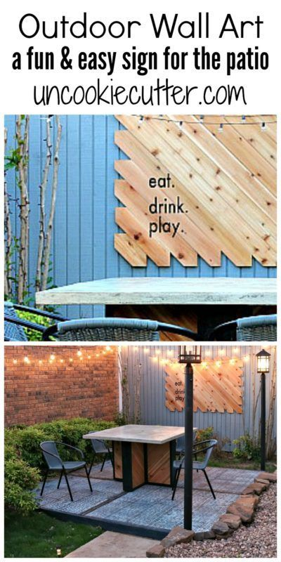 Outdoor Wall Art - A fun & easy sign for the courtyard - UncookieCutter.com