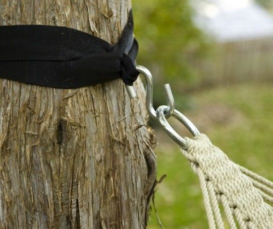 Hammock Tree Straps: better than digging into a tree.