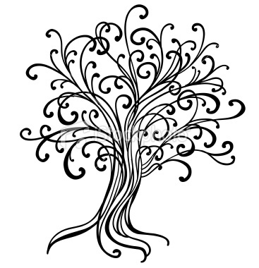 Abstract tree perfect for bleach pen projects