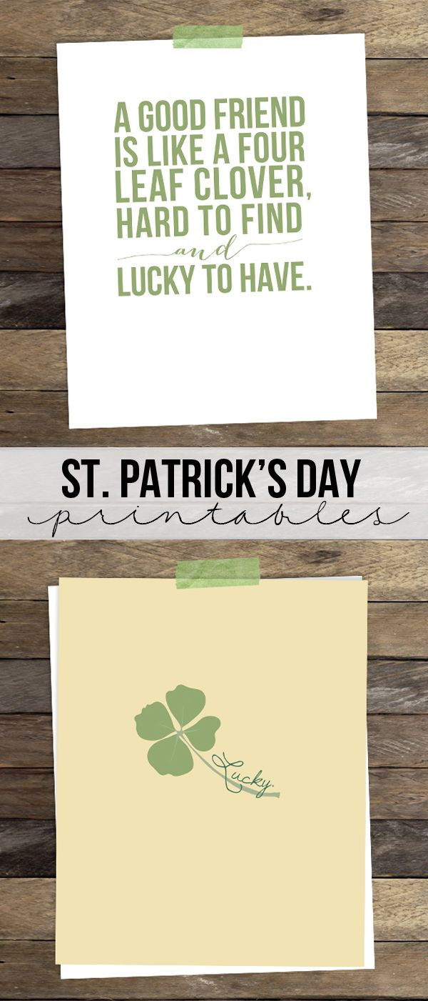 Love these!! St. Patrick's Day Printables www.livelaughrowe.com #printable #stpatricksday