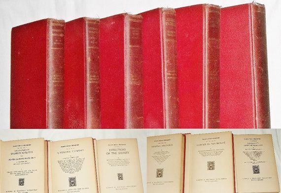 Vintage Medical Books 1928-31 Angina to Syphillis by JensDesk