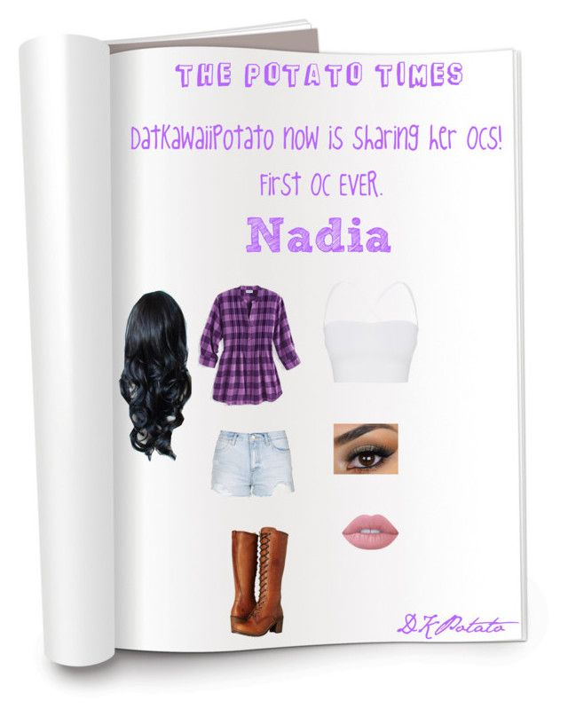 """OC magazine title pt 1: Nadia <3"" by datkawaiipotato ❤ liked on Polyvore featuring art"