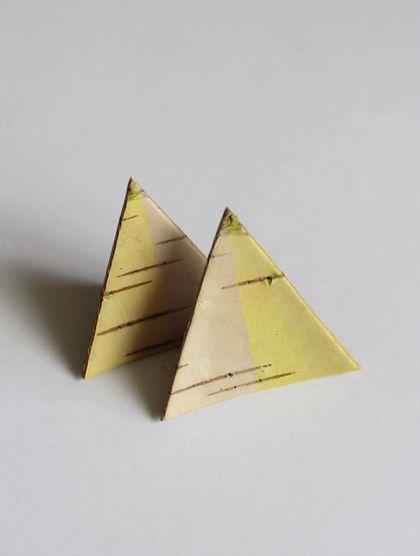 Дизайн и изготовления - Елена Ква. Брошь из бересты Половинки.