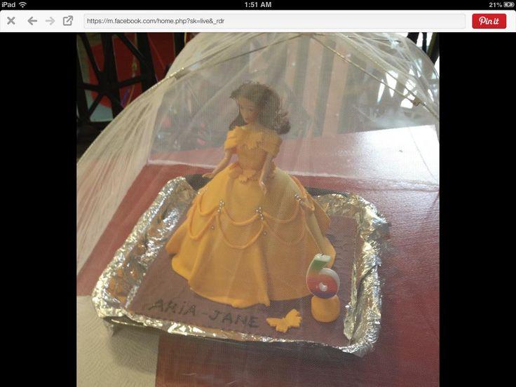 Princess Belle cake 6th birthday 2014