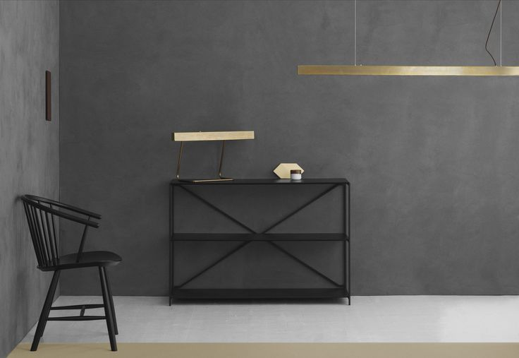 anourcph#anour #alight #allgoodthingsdanish #brownedbrass #ledlamp #danishdesign #maustudio #fredericiafurniture Another picture from our series featuring the new desk lamp and pendant in browned brass accompanied by the timeless R.I.G shelving system and the J64 chair by @fredericiafurniture. Tiles by