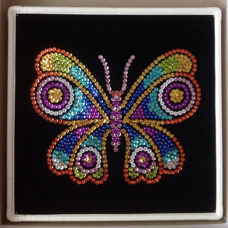 Sequin Art butterfly 1 of 3