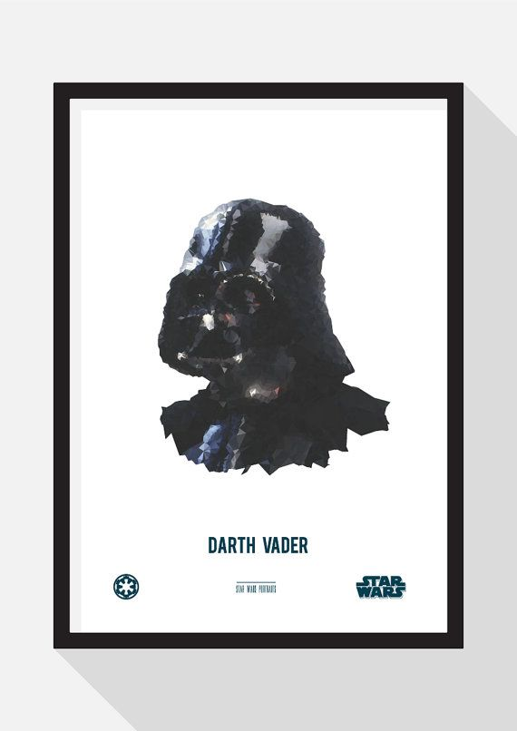 Darth Vader Portrait by TheDesignCollection on Etsy