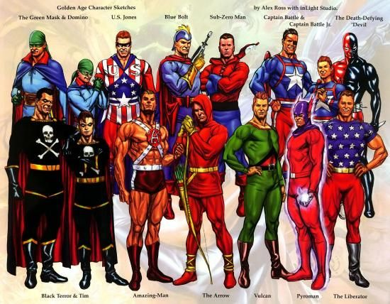 Image result for golden age superheroes