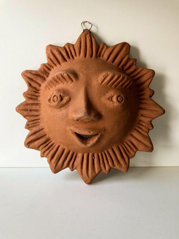 Mexican Sun Face Wall Plaque, Hand Made, Terracotta Sun, Mexican ...
