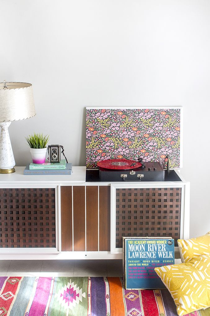 How To Paint A Retro Record Cabinet | Dream Green DIY ...