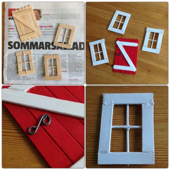 Diy window for fairy garden.   In German