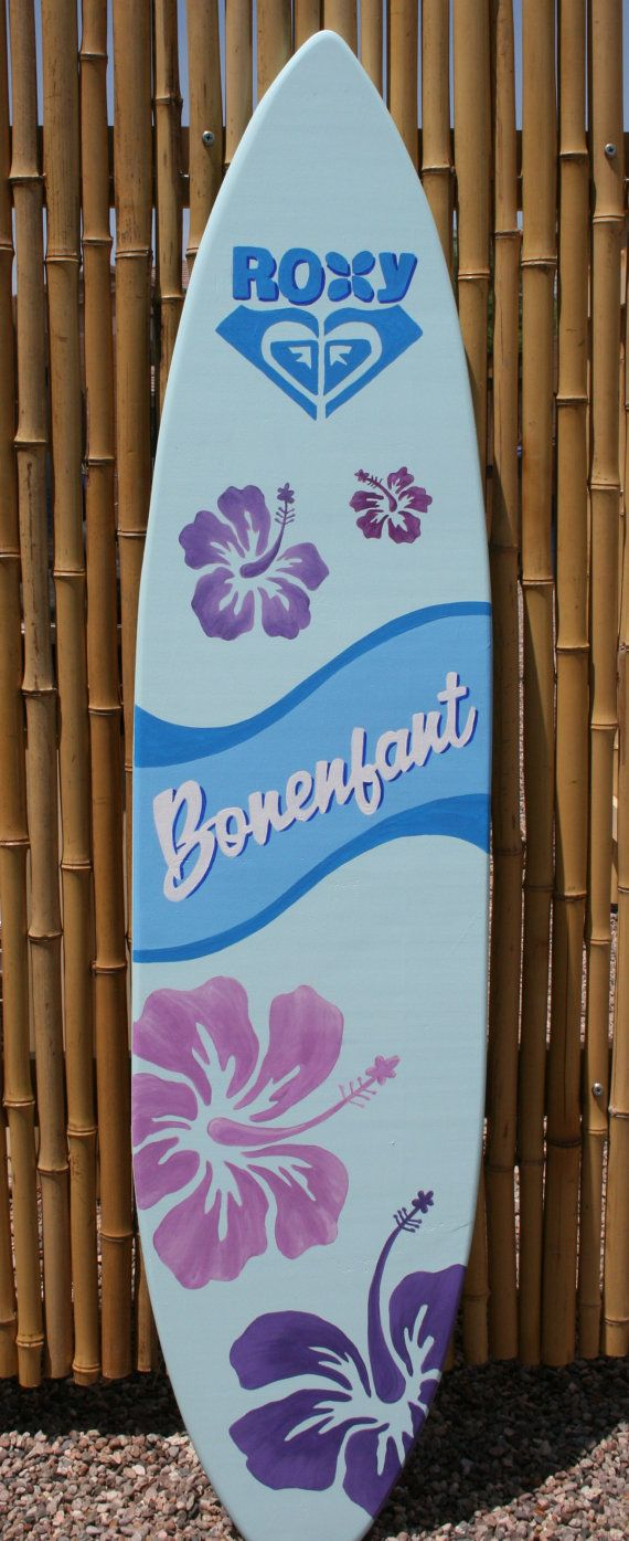 Surfboard wall art custom painted personalized sign for Surfboard decor for bedrooms