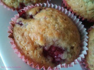 Des muffins à la framboise en toute saison...