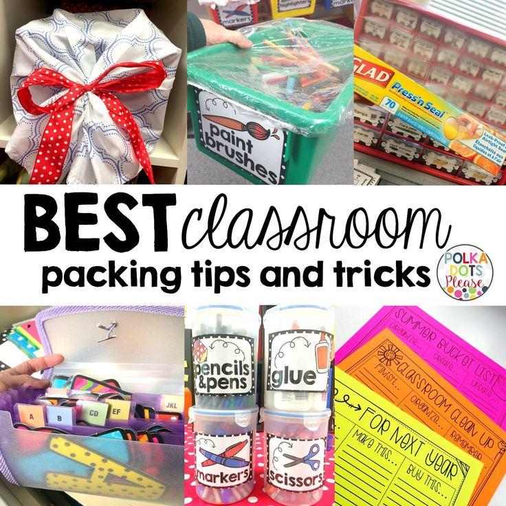 Classroom Cleaning and Packing Made Easy