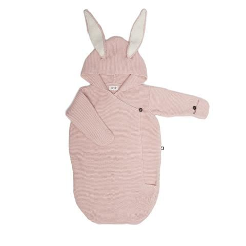 Oeuf - bunny baby wrap - pink
