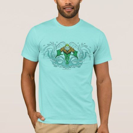 Aquaman Lunging Forward T-Shirt - click to get yours right now!