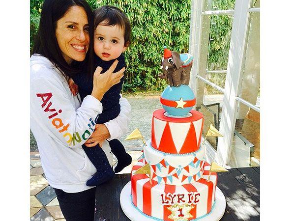 Soleil Moon Frye son's circus carnival birthday