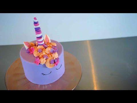 Einfache Einhorn Torte  Glitzernde Unicorn Torte Tutorial  Kuchenfee  Kuchenfees Gebcke