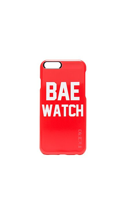 Private Party Bae Watch Phone Case in Red | REVOLVE R556.63 On revolve.com