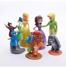 Disney Jr Sofia the First PVC Set of 5 Figures Cake Topper Fairy Godmothers