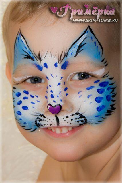 Аквагрим, грим, котенок, барс face painting, make-up, kitten, leopard
