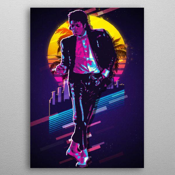 Michael Jackson King Ofpop Retro Poster Print Metal Posters In