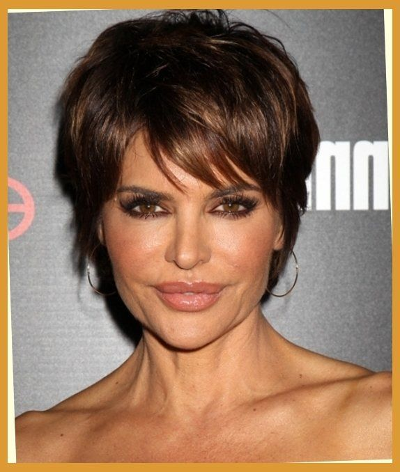 Lisa Rinna Short Straight Casual Hairstyle Dark Brunette intended for The Most Incredible And Attractive lisa rinna short hairstyles Regarding glamour