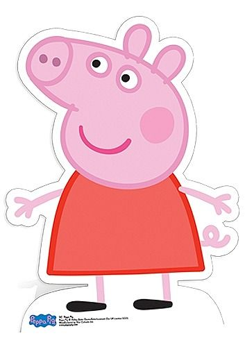 PEPPA PIG CUT OUT The Peppa Pig (Star Mini cutout) will add wow factor to your childs birthday party. If your child loves the television series Peppa Pig then make sure to bring this brilliant cutout to there party! Made from strengthened cardboard the cutout is very durable and has an attached easel on the back for support. Height: 83cm.
