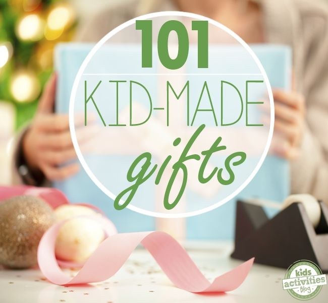 101 DIY Gifts for Kids from Kids Activities Blog. A great way to get the kids into the spirit of giving!