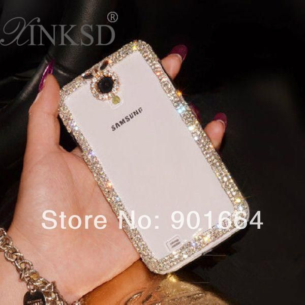 Luxury Rhinestone Crystal Case For Samsung Galaxy Grand Duos S Duos S7562 S3 S4 Mini S5 S6 Note 2 3 4