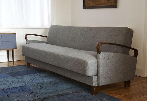 Delightful Danish Grey Vintage Sofa Bed/day Bed 50u0027s/60u0027s | EBay | Furniture |  Pinterest | Gray, EBay And Vintage