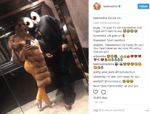 Victor Anichebes New Boo Reveals Shes One Of Floyd Mayweathers Ex-girlfriends (Photos)  DJ Cuppys ex Victor Anichebes new boo have been revealed as Doralie Bad Medina an ex girlfriend of Boxing championFloyd Mayweather.  The footballer earlier today unveiled her but made sure to protecther identity on social media by covering up her face with a ghost emoji  But our online detectives had other plans! Lol  Doralie alsoposted a photo with Anichebeon social media a day ago but made sure to cover…