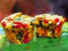 It's a meal, it's a snack, it's just great! Peppadew Spinach and Feta Muffin Bon Appetit Magazine
