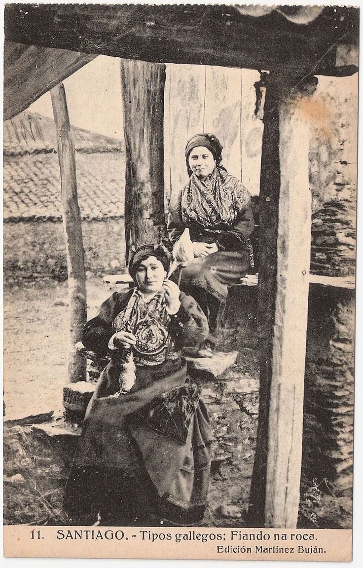 Fotografía antigua de Santiago de Compostela.