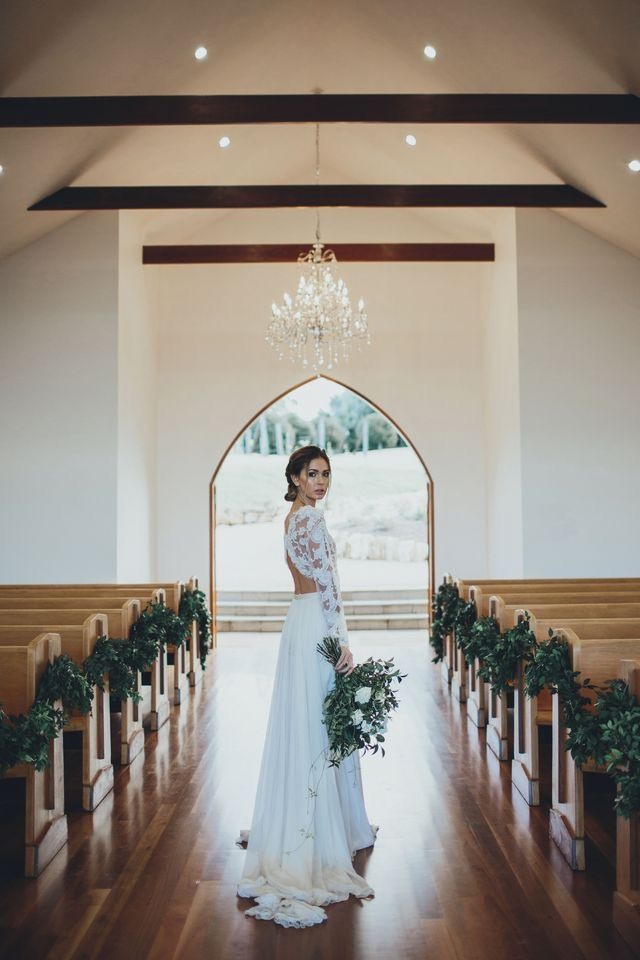 The bride #love #chapel #wedding #ceremony #bride #bridal #gown #bouquet #weddingplanner #melbourne