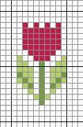Tulp voor kralenplank of strijkkralen