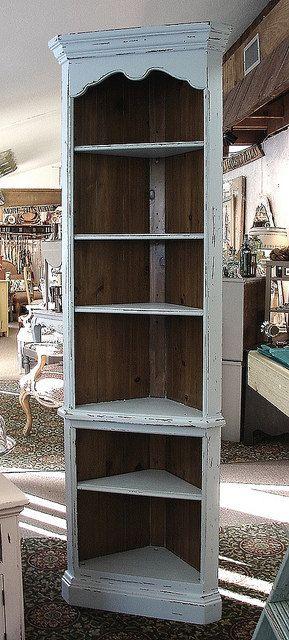 I Have A Bookcase Something Like This...definitely Going To Paint U0026  Distress · Corner BookshelvesDiy Corner ShelvingWhite ...